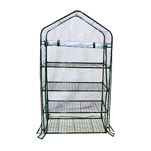 By-Garden-Essentials-Mini-GreenhousePortable-Clear-Zipper-DoorPVC-Cover73-H-0-0