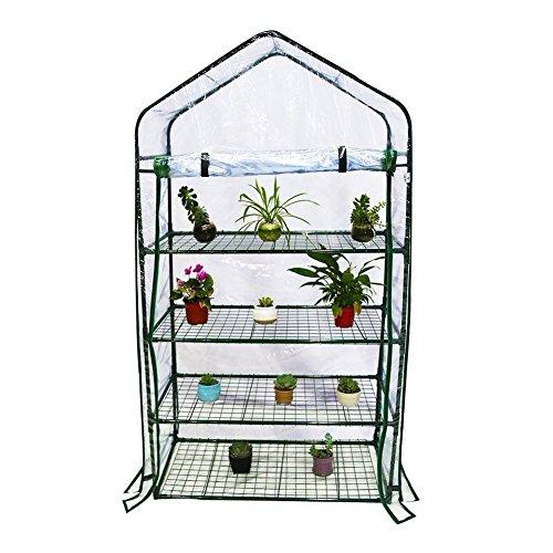 By-Garden-Essentials-Mini-GreenhousePortable-Clear-Zipper-DoorPVC-Cover73-H-0