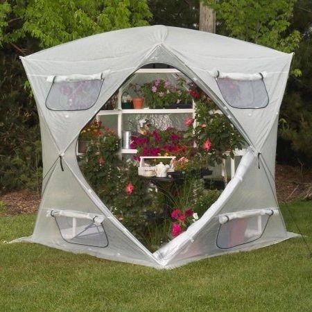 By-Garden-Essentials-Mini-GreenhousePortable-CubicalOpen-BottomLightweight7-x-7-Ft-0