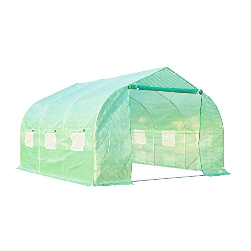By-Garden-Essentials-Mini-GreenhousePortable12-x10Well-VentilatedSteel-Tube-Frame-Deep-Green-0-0
