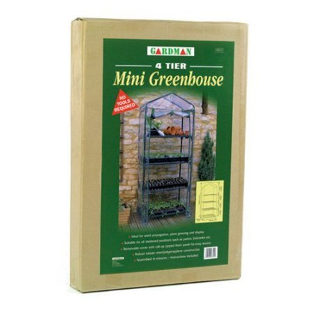 By-Garden-Essentials-Mini-GreenhousePortableClear4-Tier-Steel-Frame53-H-0-0
