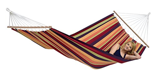 Byer-of-Maine-Brasilia-Hammock-Handwoven-PolyesterCotton-Blend-Tropical-Single-Size-Spreader-Bar-126-L-X-55-W-Holds-up-to-330lbs-0-1