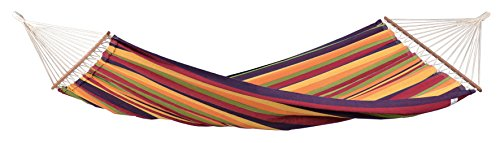 Byer-of-Maine-Brasilia-Hammock-Handwoven-PolyesterCotton-Blend-Tropical-Single-Size-Spreader-Bar-126-L-X-55-W-Holds-up-to-330lbs-0