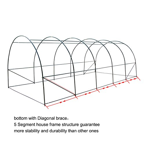 CASUN-GARDEN-Portable-Large-Walk-in-Tunnel-Greenhouse-Garden-Hot-House-with-Windows-0-0