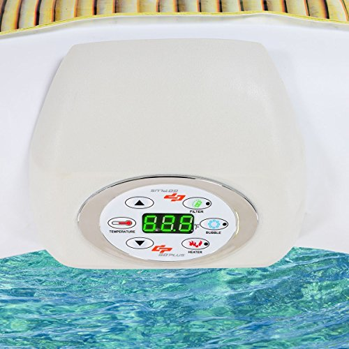 CHOOSEandBUY-4-Persons-Portable-Heated-Bubble-Massage-Spa-Beige-0-2