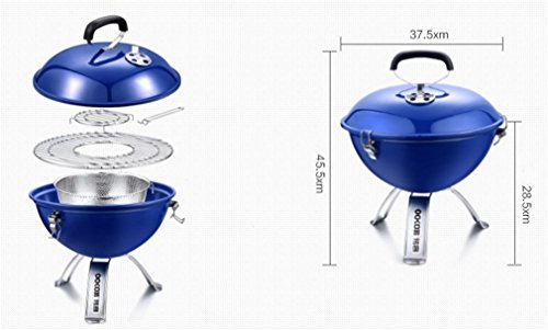 CLODY-Outdoor-Stainless-Steel-Thick-Barbecue-Charcoal-Grill-Portable-Home-Grill-0-2