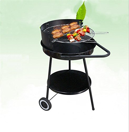 CLODY-Round-Adjustable-Barbecue-Grill-Outdoor-BBQ-Enamel-Grill-Charcoal-Green-Oven-0-0