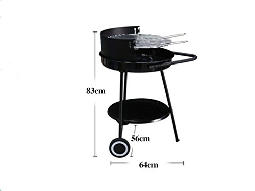 CLODY-Round-Adjustable-Barbecue-Grill-Outdoor-BBQ-Enamel-Grill-Charcoal-Green-Oven-0-1