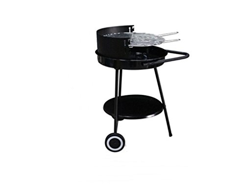 CLODY-Round-Adjustable-Barbecue-Grill-Outdoor-BBQ-Enamel-Grill-Charcoal-Green-Oven-0