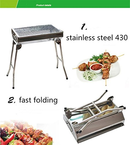 CLODY-Thicken-Stainless-Steel-Barbecue-Stove-Outdoor-Home-Portable-Camping-Barbecue-0-2