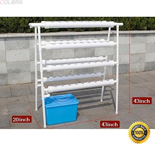 COLIBROX-72-Sites-Hydroponic-Site-Grow-Kit-Ebb-and-Flow-Deep-Water-Ladder-Garden-Pump-Perfect-Connection-Of-Holder-And-Pipe-Advanced-Inner-Blocking-Design-0