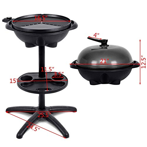 COSTWAY-1350-W-Outdoor-Electric-BBQ-Grill-with-Removable-Stand-0-0