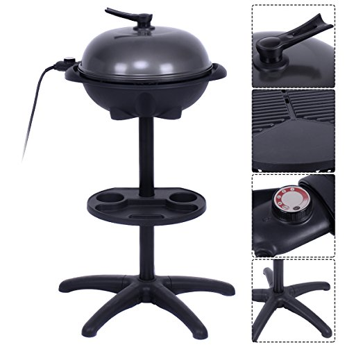 COSTWAY-VD-42178KC-CHEFJOY-1350W-IndoorOutdoor-Electric-BBQ-Grill-Black-0-0