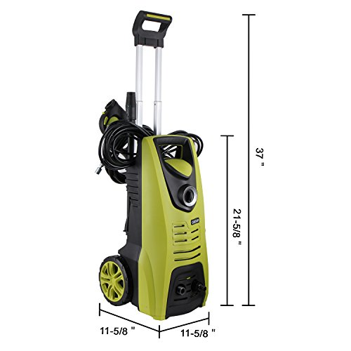 Caesar-Hardware-Electric-Pressure-Washer-Powerful-2030-PSI-Heavy-Duty-Manual-Adjustable-High-Low-Cold-Water-Sprayer-System-Rolling-Wheels-Clean-Concrete-Driveway-Car-Home-CH-60115M-0-2