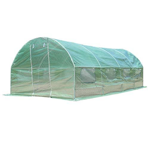 Caraya-Walk-in-Greenhouse-Backyard-Grow-Tents-Steel-Frame-8-Windows-10X65X20-0-0