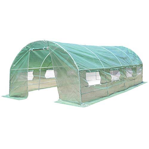 Caraya-Walk-in-Greenhouse-Backyard-Grow-Tents-Steel-Frame-8-Windows-10X65X20-0