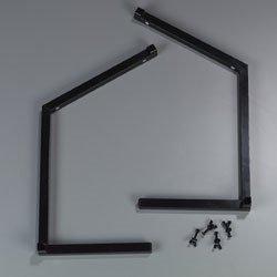 Carlisle-Sneeze-Guard-Legs-only-standard-single-sided-aluminum-black-984803-0
