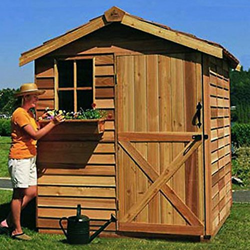 Cedar-Shed-6-x-9-ft-Gardener-Storage-Shed-0