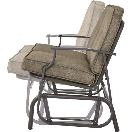 Charming-2-Person-Glider-Bench-Durable-and-Long-Lasting-Steel-Frame-Construction-Polyester-Filled-Fabrics-Perfect-For-your-Patio-and-Garden-Contemporary-Style-Light-Brown-Finish-0-1