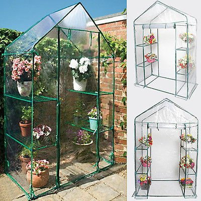 Chic-Product-Affordable-Portable-Outdoor-4-Shelves-3-Tier-Walk-in-Greenhouse-Perfect-Plants-Protection-Growth-0-0