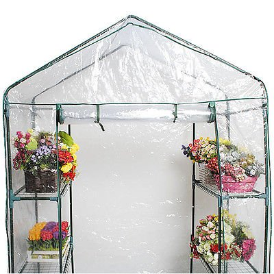 Chic-Product-Affordable-Portable-Outdoor-4-Shelves-3-Tier-Walk-in-Greenhouse-Perfect-Plants-Protection-Growth-0