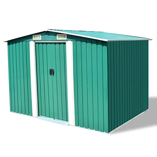 Chloe-Rossetti-Storage-Shed-Green-Metal-Garden-Storage-Shed-Size-with-roof-1012-x-807-x-701-W-x-D-x-H-Outdoor-Storage-Shed-Ground-Surface-Area-969-x-756-L-x-W-0