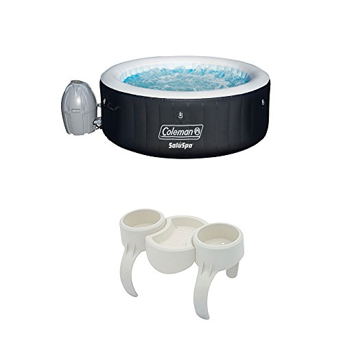Coleman-SaluSpa-4-Person-Inflatable-Hot-Tub-Bestway-SaluSpa-DrinkSnack-Holder-0