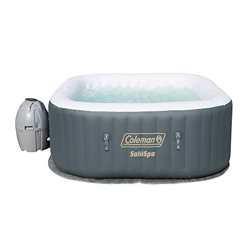 Coleman-SaluSpa-Inflatable-AirJet-Hot-Tub-Gray-0