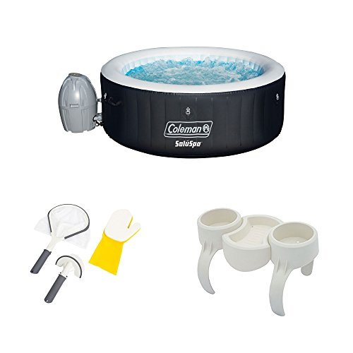 Coleman-SaluSpa-Inflatable-Hot-Tub-Bestway-Spa-Cleaning-Set-DrinkSnack-Tray-0