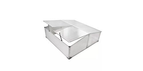 Comfyleads-Cold-Frame-Polycarbonate-Aluminum-Frame-4-Lids-3-6-x-1-4-x-3-7-108-x-41-x-110-cm-0