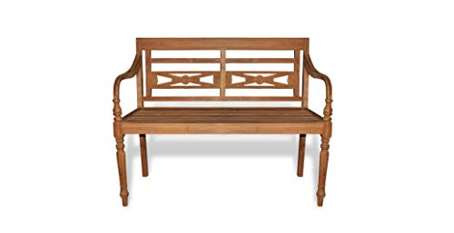 Comfyleads-Teak-Batavia-Bench-Seats-2-Seats-Durable-New-472-x-205-x-335-0-0