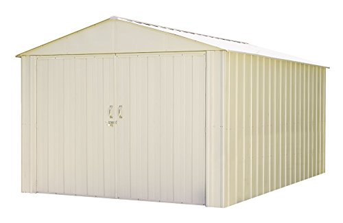 Commander-10×15-Hot-Dipped-Galvanized-Steel-Eggshell-High-Gable-713-Wall-Height-Extra-Wide-Swing-Doors-0