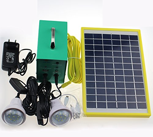 Cowin-Solar-Lighting-Kit-5W-Solar-Panel-12V4Ah-Battery-with-Controller-2-x-1W-Lamps-100-240V-AC-Adapter-0