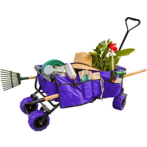 Creative-Outdoor-Distributor-All-Terrain-Collapsible-Wagon-with-Shade-Canopy-Use-for-Gardening-Tailgating-Beach-Trips-Picnics-and-More-0-0