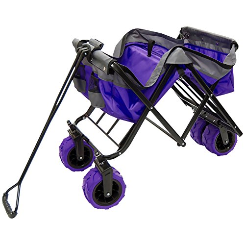 Creative-Outdoor-Distributor-All-Terrain-Collapsible-Wagon-with-Shade-Canopy-Use-for-Gardening-Tailgating-Beach-Trips-Picnics-and-More-0-2