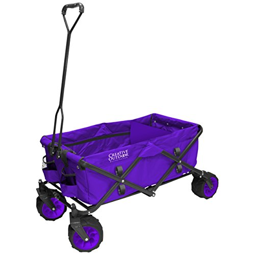 Creative-Outdoor-Distributor-All-Terrain-Collapsible-Wagon-with-Shade-Canopy-Use-for-Gardening-Tailgating-Beach-Trips-Picnics-and-More-0
