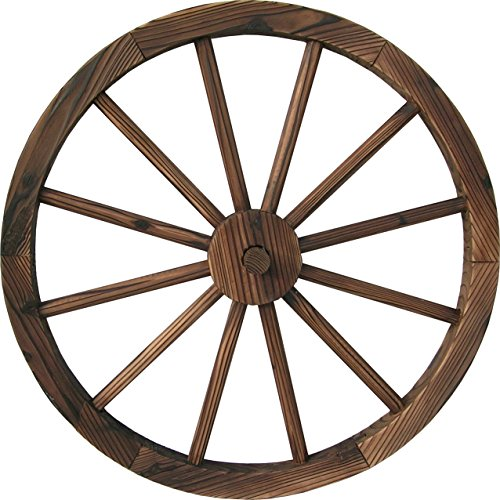 DDI-QD-LFNB-W30W-30-Wooden-Wagon-Wheel-Burnt-Wood-0
