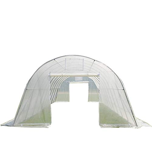 DELTA-Canopies-Greenhouse-33x13x75-Clear-Heavy-Duty-Walk-in-Hothouse-0