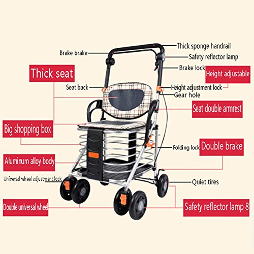 DGS-Shopping-Trolley4-Wheel-Trolley-With-Folding-Seat-Foldaway-For-Easy-StorageCollapsible-Elderly-Scooter-0-2