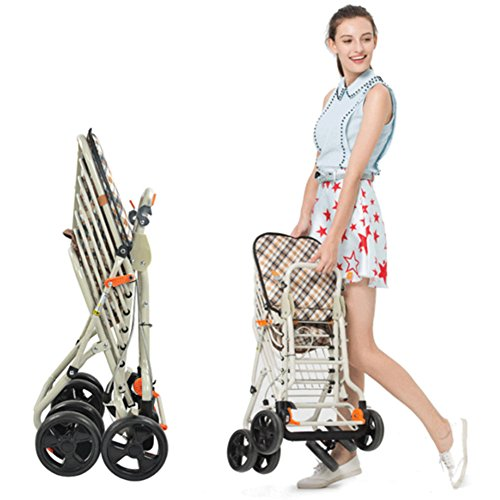 DGS-Shopping-Trolley4-Wheel-Trolley-With-Folding-Seat-Foldaway-For-Easy-StorageElderly-Shopping-Cart-0-0