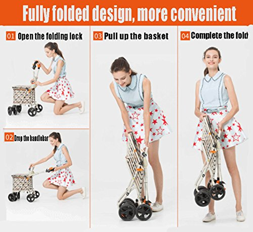 DGS-Shopping-Trolley4-Wheel-Trolley-With-Folding-Seat-Foldaway-For-Easy-StorageElderly-Shopping-Cart-0-2