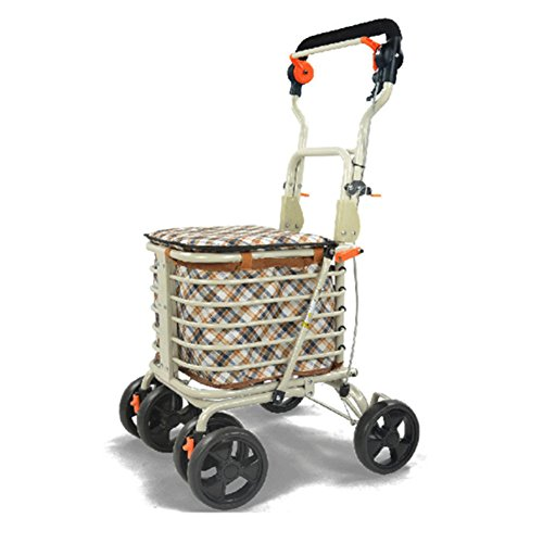 DGS-Shopping-Trolley4-Wheel-Trolley-With-Folding-Seat-Foldaway-For-Easy-StorageElderly-Shopping-Cart-0