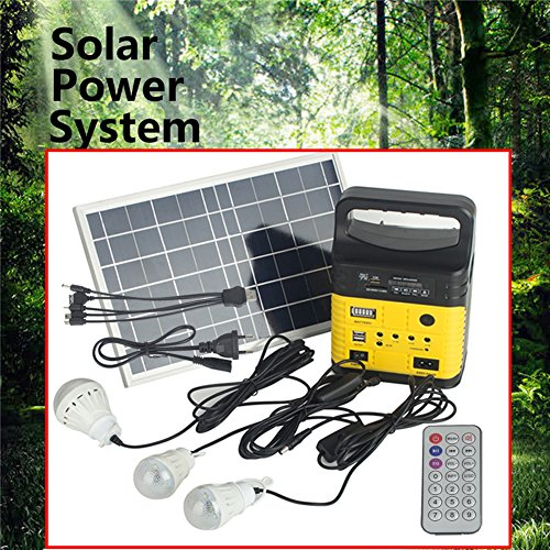 DODOING-Solar-Power-Generator-Portable-kit-Solar-Generator-System-for-Home-Garden-Outdoor-Camping-Power-Mini-DC6W-Solar-Panel-6V-9Ah-Lead-acid-Battery-Charging-LED-Light-USB-Charger-System-0-0
