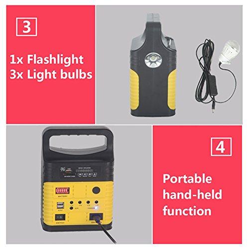 DODOING-Solar-Power-Generator-Portable-kit-Solar-Generator-System-for-Home-Garden-Outdoor-Camping-Power-Mini-DC6W-Solar-Panel-6V-9Ah-Lead-acid-Battery-Charging-LED-Light-USB-Charger-System-0-2