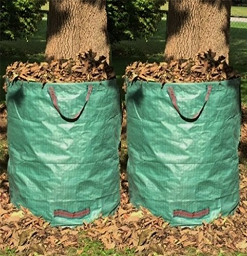 DYHQQ-5-Pack-272L-Garden-Bag-Reuseable-Heavy-Duty-Gardening-Bags-Lawn-Pool-Garden-Leaf-Waste-Bag-0-0