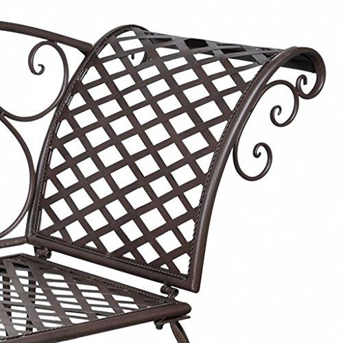 Daonanba-Elegant-Garden-Bench-Metal-Garden-Chaise-Lounge-Patio-Decoration-Antique-Brown-Scroll-patterned-0-1