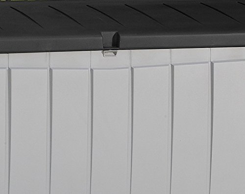 Deck-Box-Outdoor-Plastic-90-Gallon-Grey-Storage-With-Free-Combination-Keypad-BlackGrey-0-2