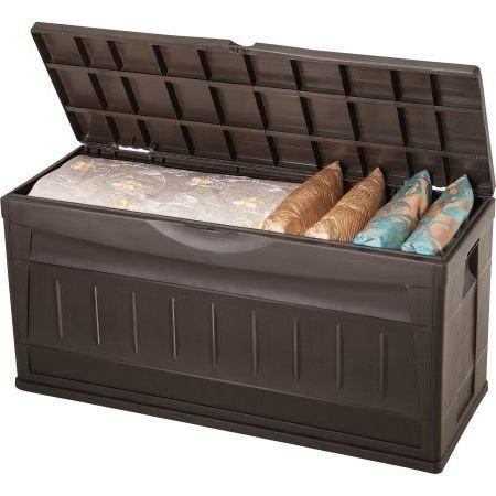 Deck-BoxPatio-Storage61-GalPlasticlockableBrown-0
