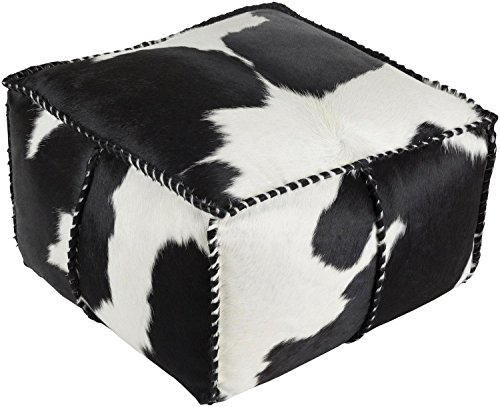 Diva-At-Home-22-Black-and-White-Leather-Knife-Edge-Square-Pouf-Ottoman-with-Coordinating-Trim-0