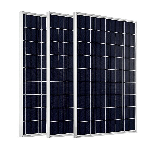 ECO-WORTHY-300W-Complete-Solar-Kit-12v-Battery-Charger-3pcs-100W-Panels-Solar-Cable-60A-PWM-Charge-Controller-MC4-Branch-Connectors-Z-Bracket-Mounts100Ah-12V-Sealed-Lead-Acid-Battery-0-0